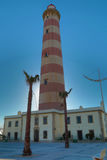Lighthouse. This is the highest lighthouse in the Iberian Peninsula and is located in Praia da Barra, Ilhavo in Aveiro District. rnThe Barra Lighthouse is a royalty free stock photos