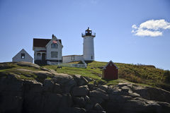 Lighthouse on the hill Stock Photography