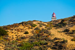 Lighthouse on hill Royalty Free Stock Photo
