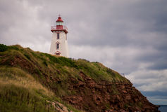 Lighthouse on a hill Royalty Free Stock Photography
