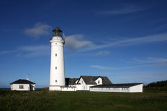 Lighthouse at Hirtshals Stock Photos