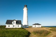 Lighthouse in Hirtshals Royalty Free Stock Photo