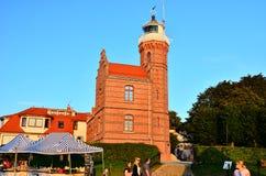 Lighthouse. Historic lighthouse in Ustka Poland Royalty Free Stock Photo