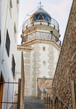 Lighthouse in historical center of Peniscola, Spain Stock Photography
