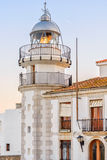 Lighthouse in historical center of Peniscola, Spain Stock Photo