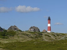 Lighthouse of Hoernum on the Island of Sylt royalty free stock photography