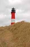 Lighthouse in Hoernum on the island of Sylt in winter Stock Photography