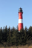 The lighthouse of Hoernum in the morning light Stock Images