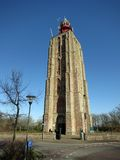 Lighthouse in Holland. Lighthouse in Westkapelle, Zeeland, The Netherlands. It is built on a modified church Stock Photos