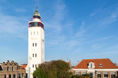 Lighthouse hotel in old town of Harlingen, Netherlands Royalty Free Stock Photos