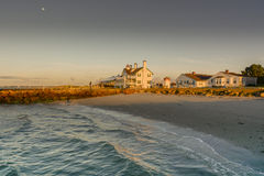 Lighthouse Hotel. The Lighthouse Hotel West Dennis Cape Cod at sunrise Stock Image