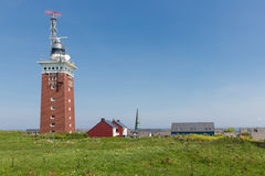 Lighthouse and houses at German Helgoland island. Lighthouse and houses at Helgoland island, Germany stock photos