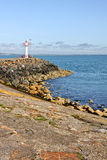 Lighthouse at Howth harbor in Ireland Royalty Free Stock Photos
