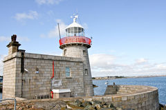 Lighthouse at Howth harbor in Ireland Royalty Free Stock Photo