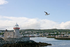 Lighthouse at Howth harbor in Ireland Royalty Free Stock Image