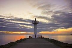 Lighthouse. Howth Port Lighthouse sunset on saturday Royalty Free Stock Photo