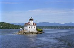 Lighthouse on the Hudson Royalty Free Stock Images