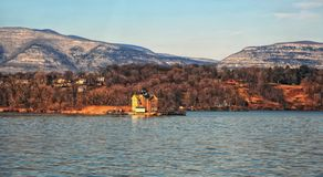 Lighthouse on the hudson river in saugerties ny. Active lighthouse on the hudson river in saugerties ny which is very near to woodstock ny royalty free stock image