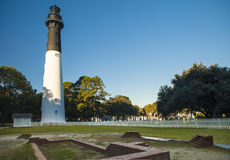 Lighthouse at Hunting Island State Park, South Carolina, Beaufor. Lighthouse at Hunting Island State Park, South Carolina Stock Photos