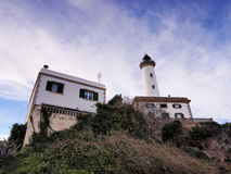 Lighthouse in Ibiza Town Royalty Free Stock Photos