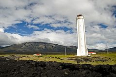 Lighthouse, Iceland Stock Photography