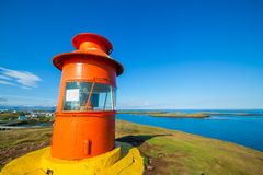 Lighthouse in iceland Stock Photo