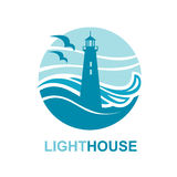 Lighthouse icon design royalty free illustration