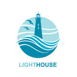 Lighthouse icon design Royalty Free Stock Photography