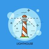 Lighthouse Icon logo line flat design. Vector illustration. Stock Photography