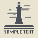 Lighthouse icon or sign Royalty Free Stock Images