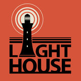 Lighthouse icon or sign Stock Images