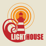 Lighthouse icon or sign Royalty Free Stock Photos