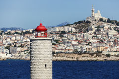 Lighthouse on If island in Marseille Royalty Free Stock Photo