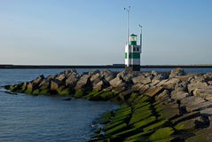 Lighthouse Ijmuiden. Lighthouse in Dutch coastal town Royalty Free Stock Photo