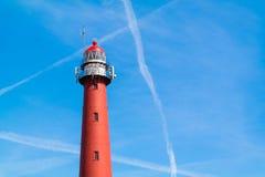 Lighthouse of IJmuiden, Netherlands Stock Photo