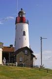 Lighthouse on the Ijsselmeer at Urk Stock Image