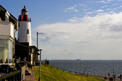 Lighthouse on the Ijsselmeer at Urk Stock Photography