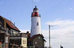 Lighthouse on the Ijsselmeer at Urk Royalty Free Stock Photography