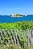 Lighthouse Ile Louet, English Channel, France Stock Photos