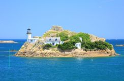 Lighthouse Ile Louet, France Royalty Free Stock Images