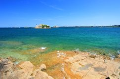 Lighthouse on the Ile Louet, France Stock Photography