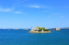 Lighthouse Ile Louet, France Royalty Free Stock Image