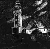 Lighthouse Illustration stock illustration