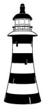 Lighthouse. A lighthouse illustration in stylised black and white with stripes royalty free illustration