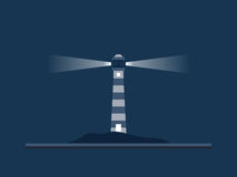 Lighthouse Illustration Stock Images