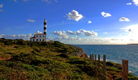 Lighthouse In Mallorca Stock Photos