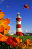 Lighthouse In Plymouth Stock Photos