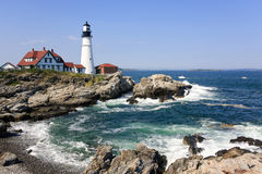 Lighthouse In Portland, Maine Royalty Free Stock Image