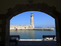 Free Lighthouse In Rethymno Crete Greece Stock Image - 158704831
