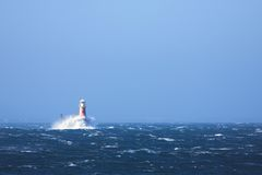 Free Lighthouse In The Sea At Simons Town Royalty Free Stock Photos - 1966678